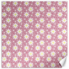 Daisy Dots Pink Canvas 20  X 20