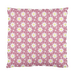 Daisy Dots Pink Standard Cushion Case (two Sides) by snowwhitegirl