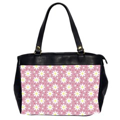 Daisy Dots Pink Office Handbags (2 Sides)