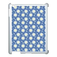 Daisy Dots Blue Apple Ipad 3/4 Case (white) by snowwhitegirl