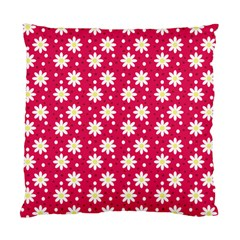 Daisy Dots Light Red Standard Cushion Case (two Sides) by snowwhitegirl