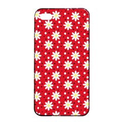 Daisy Dots Red Apple Iphone 4/4s Seamless Case (black)