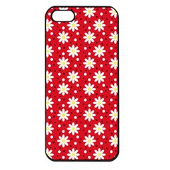 Daisy Dots Red Apple Iphone 5 Seamless Case (black) by snowwhitegirl