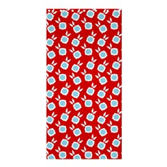 Square Flowers Red Shower Curtain 36  X 72  (stall)  by snowwhitegirl