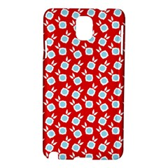 Square Flowers Red Samsung Galaxy Note 3 N9005 Hardshell Case by snowwhitegirl