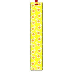 Square Flowers Yellow Large Book Marks by snowwhitegirl