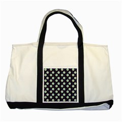 Daisy Dots Navy Blue Two Tone Tote Bag by snowwhitegirl