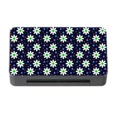 Daisy Dots Navy Blue Memory Card Reader With Cf by snowwhitegirl