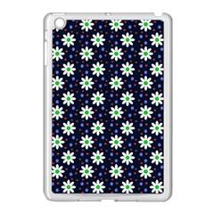 Daisy Dots Navy Blue Apple Ipad Mini Case (white) by snowwhitegirl