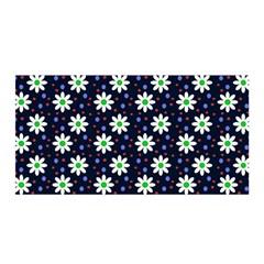 Daisy Dots Navy Blue Satin Wrap by snowwhitegirl