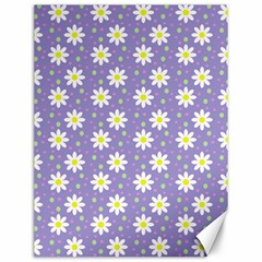 Daisy Dots Violet Canvas 12  X 16