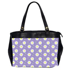 Daisy Dots Violet Office Handbags (2 Sides)