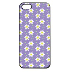 Daisy Dots Violet Apple Iphone 5 Seamless Case (black) by snowwhitegirl