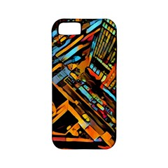 City Scape Apple Iphone 5 Classic Hardshell Case (pc+silicone) by 8fugoso