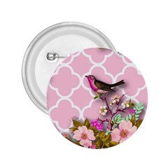 Shabby Chic,floral,bird,pink,collage 2 25  Buttons by 8fugoso