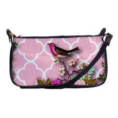 Shabby Chic,floral,bird,pink,collage Shoulder Clutch Bags by 8fugoso