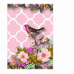 Shabby Chic,floral,bird,pink,collage Large Garden Flag (two Sides) by 8fugoso