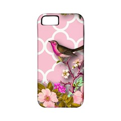 Shabby Chic,floral,bird,pink,collage Apple Iphone 5 Classic Hardshell Case (pc+silicone) by 8fugoso
