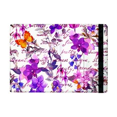 Ultra Violet,shabby Chic,flowers,floral,vintage,typography,beautiful Feminine,girly,pink,purple Ipad Mini 2 Flip Cases by 8fugoso