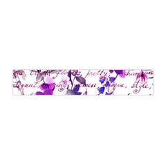 Ultra Violet,shabby Chic,flowers,floral,vintage,typography,beautiful Feminine,girly,pink,purple Flano Scarf (mini)