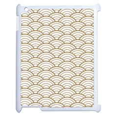 Gold,white,art Deco,vintage,shell Pattern,asian Pattern,elegant,chic,beautiful Apple Ipad 2 Case (white) by 8fugoso