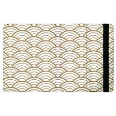 Gold,white,art Deco,vintage,shell Pattern,asian Pattern,elegant,chic,beautiful Apple Ipad 3/4 Flip Case by 8fugoso