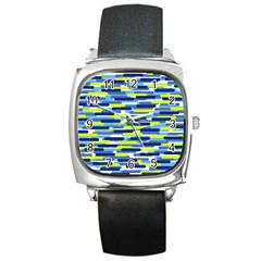 Fast Capsules 5 Square Metal Watch by jumpercat