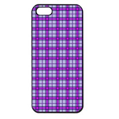 Purple Tartan Apple Iphone 5 Seamless Case (black) by jumpercat