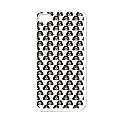 Angry Girl Pattern Apple Iphone 4 Case (white) by snowwhitegirl