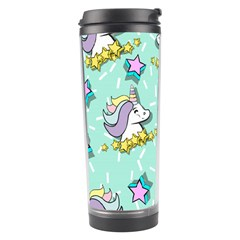 Magical Happy Unicorn And Stars Travel Tumbler by allthingseveryday