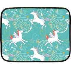 Magical Flying Unicorn Pattern Fleece Blanket (mini) by allthingseveryday