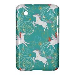 Magical Flying Unicorn Pattern Samsung Galaxy Tab 2 (7 ) P3100 Hardshell Case  by allthingseveryday