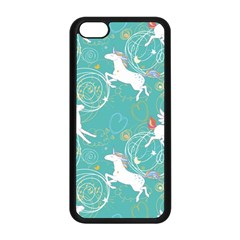 Magical Flying Unicorn Pattern Apple Iphone 5c Seamless Case (black) by allthingseveryday