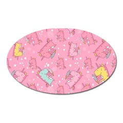Unicorns Eating Ice Cream Pattern Oval Magnet by allthingseveryday
