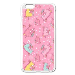 Unicorns Eating Ice Cream Pattern Apple Iphone 6 Plus/6s Plus Enamel White Case by allthingseveryday