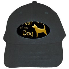 Year Of The Dog   Chinese New Year Black Cap by Valentinaart