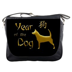 Year Of The Dog   Chinese New Year Messenger Bags by Valentinaart