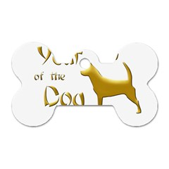 Year Of The Dog   Chinese New Year Dog Tag Bone (two Sides)