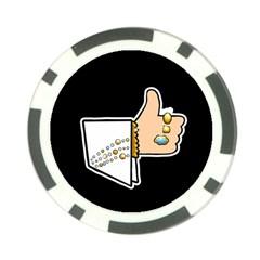 Elvis   Like Poker Chip Card Guard