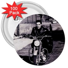 Elvis Presley 3  Buttons (100 Pack)  by Valentinaart
