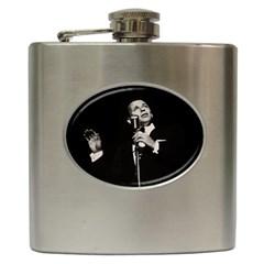 Frank Sinatra  Hip Flask (6 Oz) by Valentinaart
