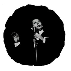 Frank Sinatra  Large 18  Premium Flano Round Cushions by Valentinaart
