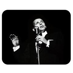 Frank Sinatra  Double Sided Flano Blanket (medium)  by Valentinaart