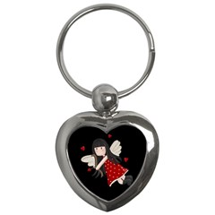 Cupid Girl Key Chains (heart)  by Valentinaart