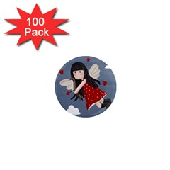 Cupid Girl 1  Mini Magnets (100 Pack)  by Valentinaart