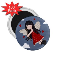Cupid Girl 2 25  Magnets (100 Pack)  by Valentinaart