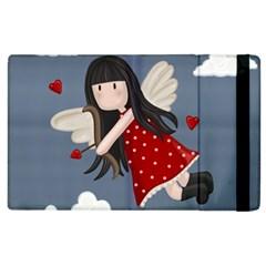 Cupid Girl Apple Ipad 3/4 Flip Case by Valentinaart