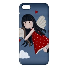 Cupid Girl Iphone 5s/ Se Premium Hardshell Case by Valentinaart