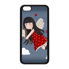 Cupid Girl Apple Iphone 5c Seamless Case (black) by Valentinaart