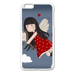 Cupid Girl Apple Iphone 6 Plus/6s Plus Enamel White Case by Valentinaart